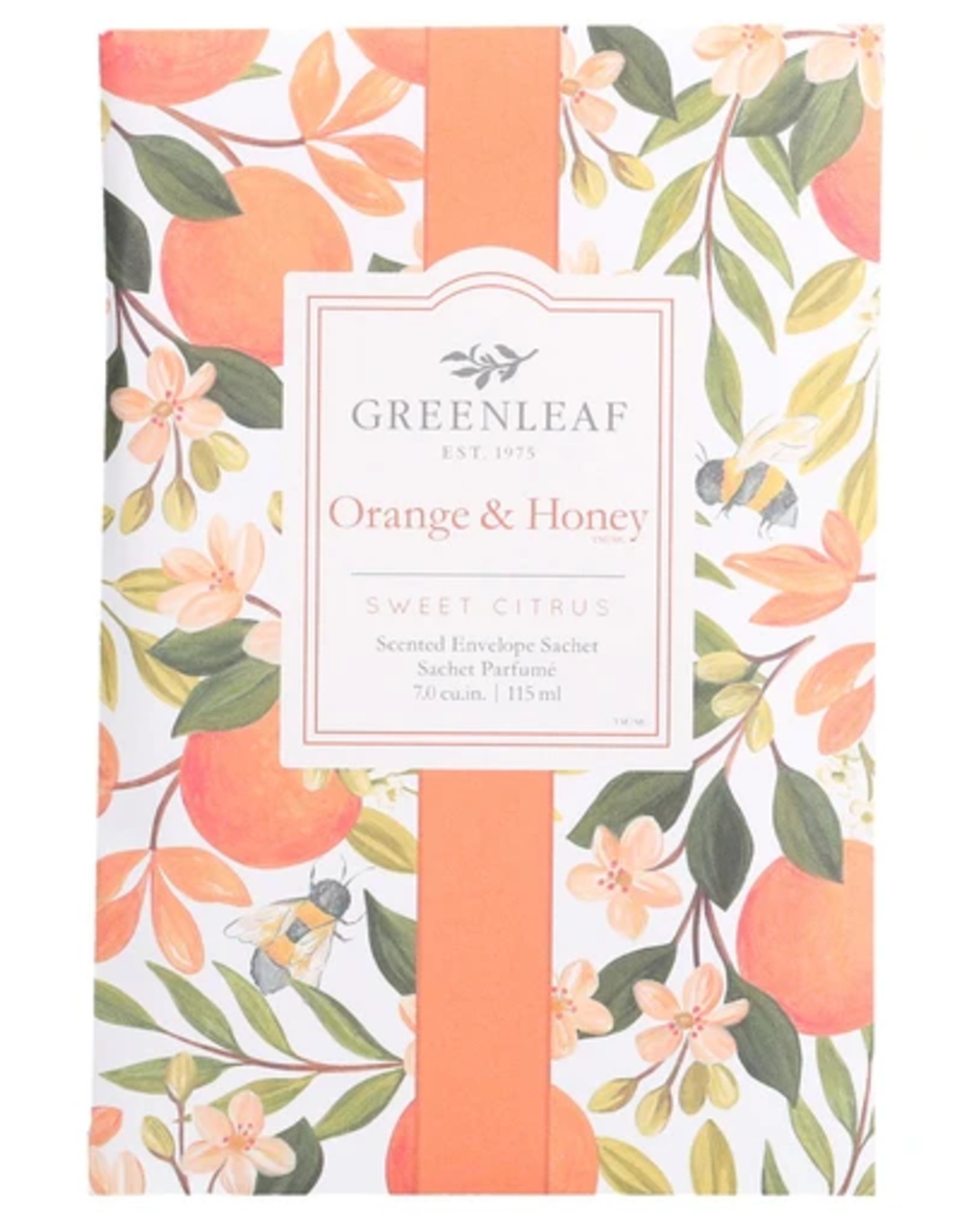 Greenleaf Large Sachet, Orange & Honey