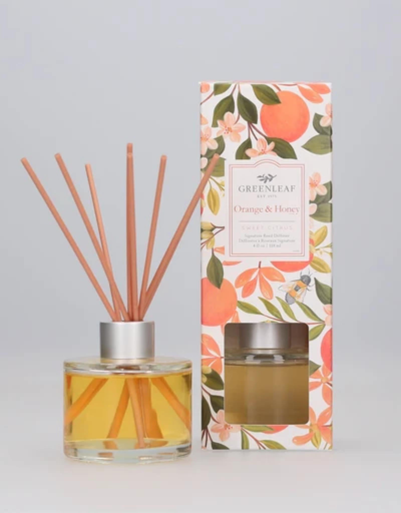 Greenleaf Reed Diffuser, Orange & Honey