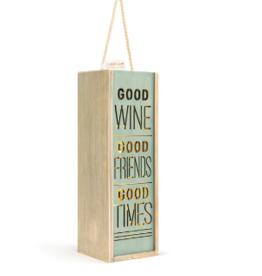 Lantern/Wine Box, Good Wine Good Friends