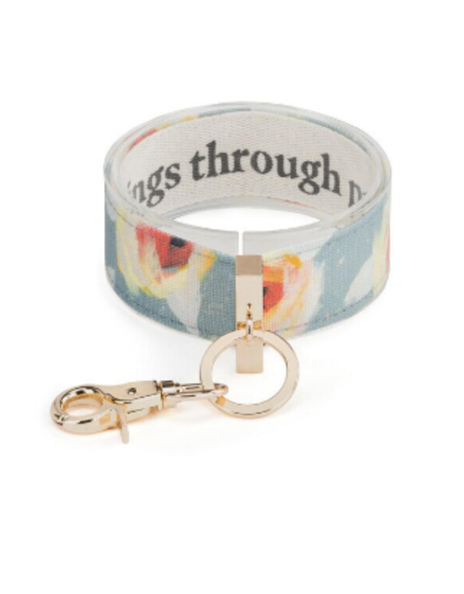 Wrist Strap Key Chain, All Things Through Prayer