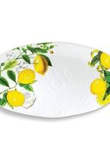 MichelDesign Works Oval Platter, Lemon Basil