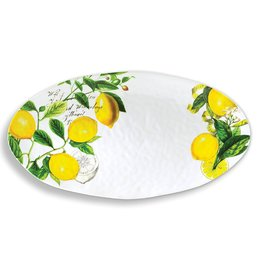 MichelDesign Works Oval Platter, Lemon Basil