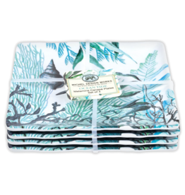 MichelDesign Works Ocean Tide Canape Plates, Set of 4