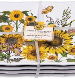 MichelDesign Works Sunflower Canape Plates, Set of 4