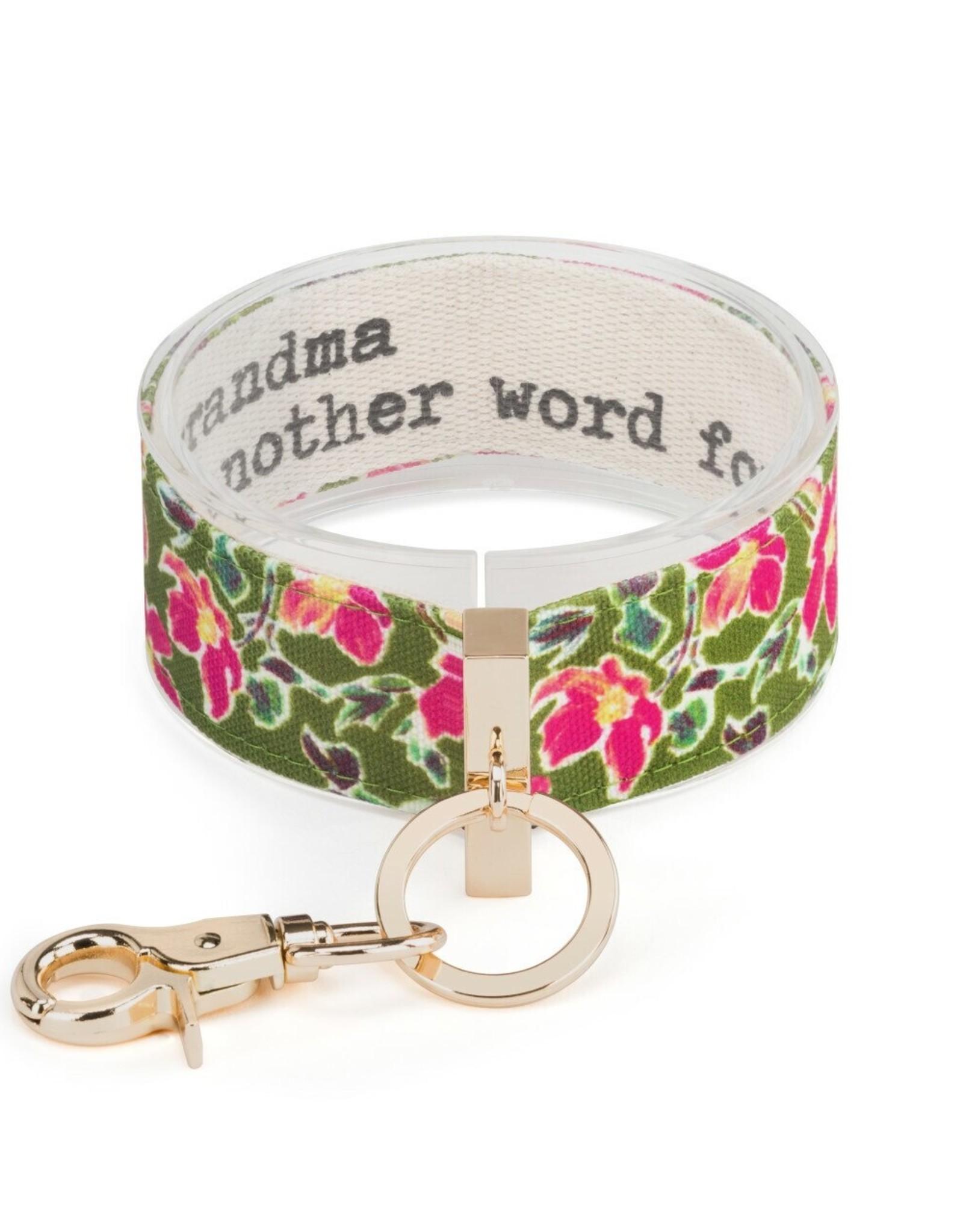 Wrist Strap Key Chain, Grandma Word for Love
