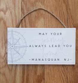 Sincere Surroundings Hanging Sign, May Your Journey