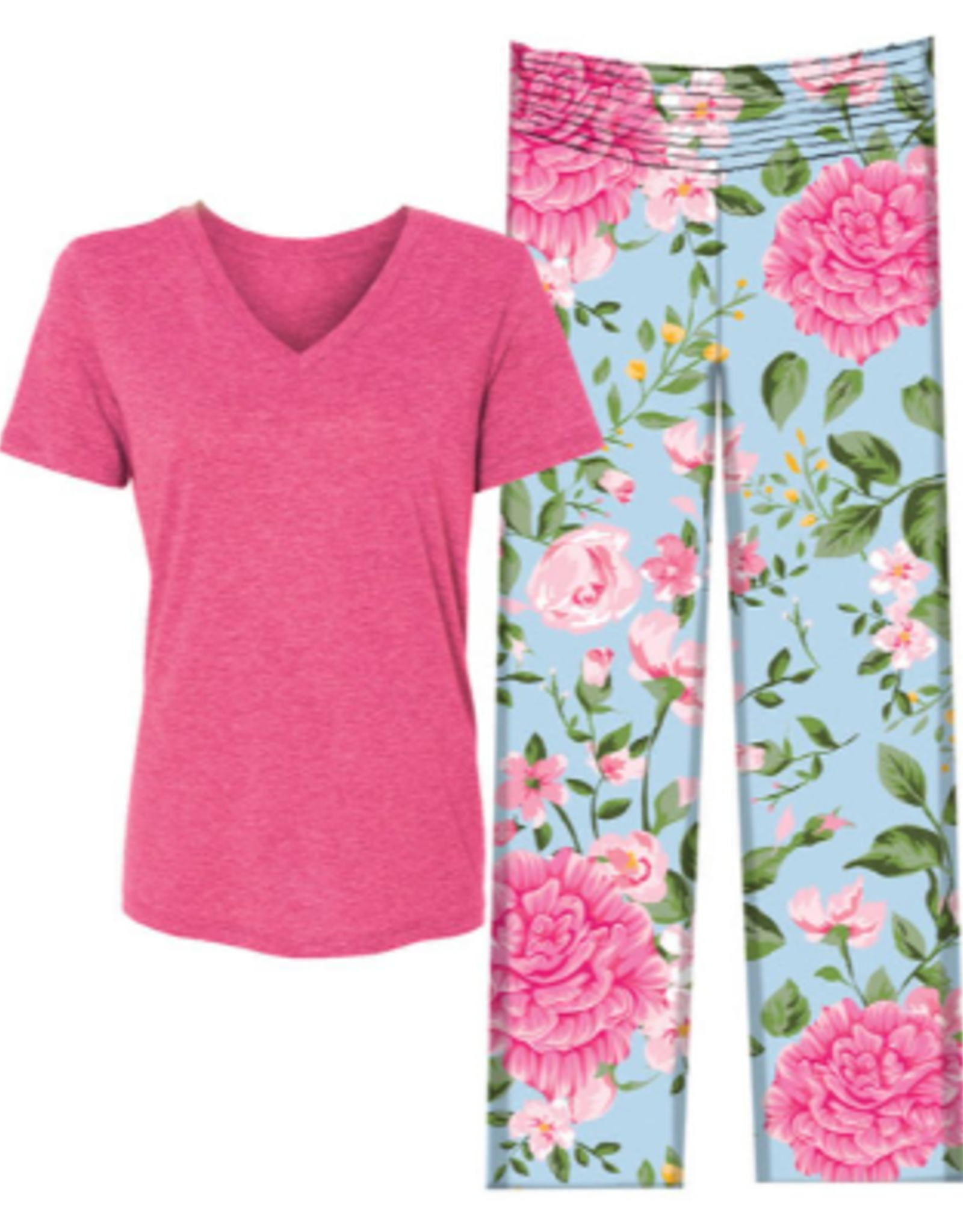 Jane Marie Pajama Set, Carnation