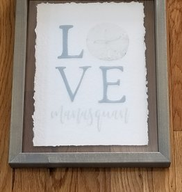 Sincere Surroundings Framed Art, Love Sand Dollar