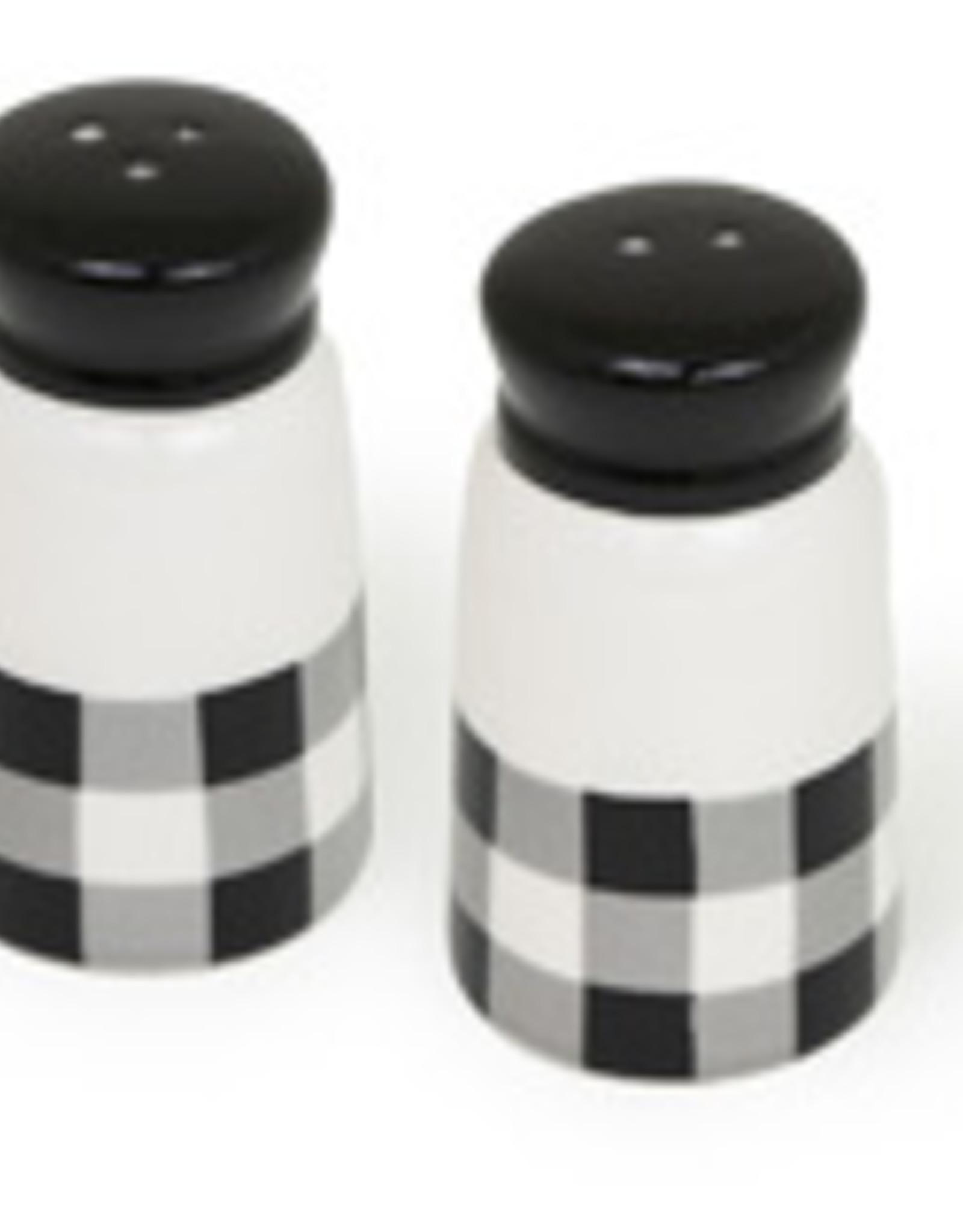 Boston International Salt & Pepper, Black & White Check