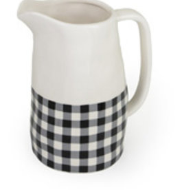Boston International Pitcher, Black & White Check