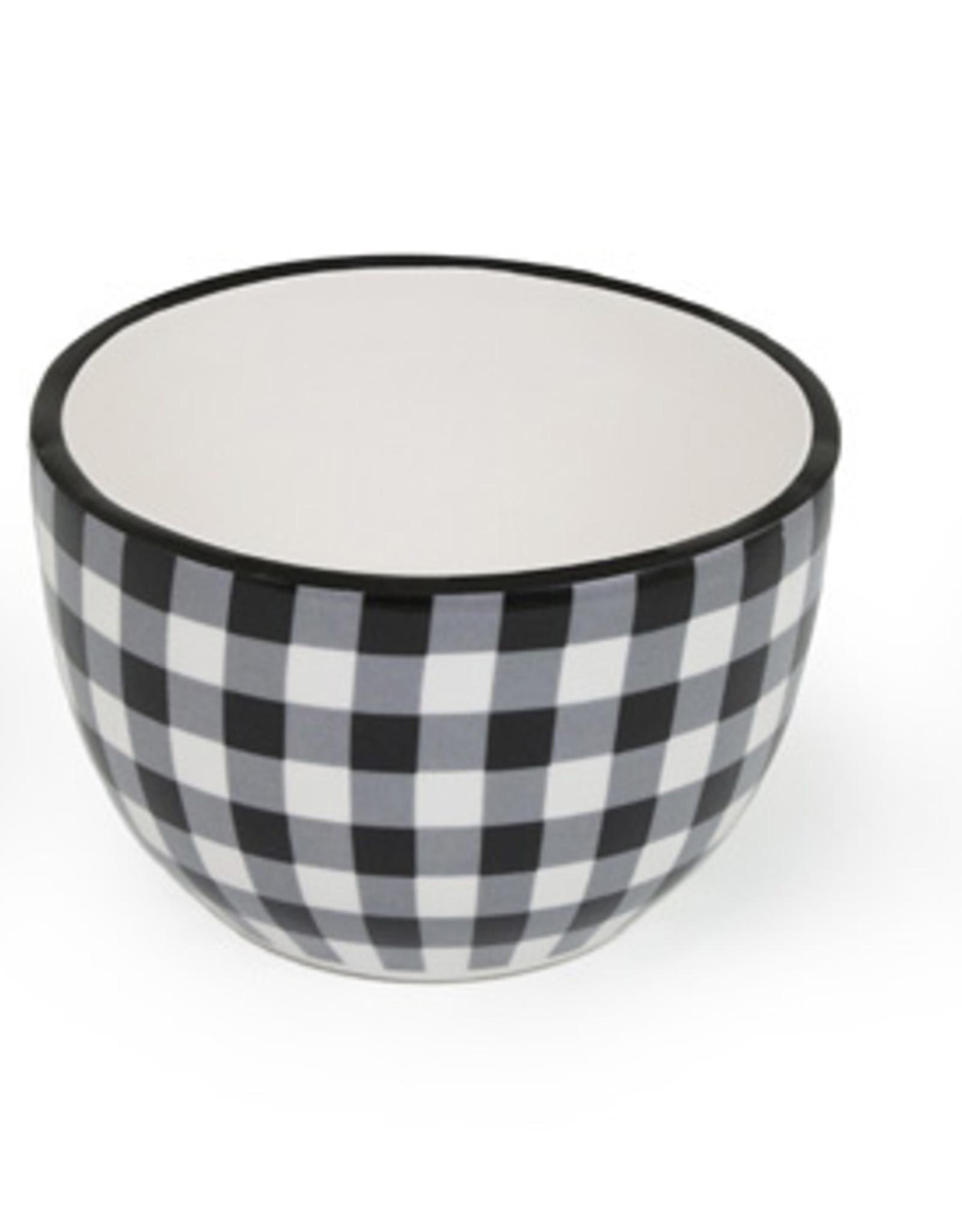 Boston International Bowls, Black & White Check, Set of 3