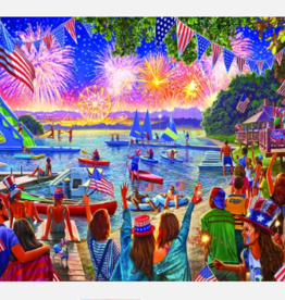 White Mountain Puzzles Puzzle, 4th of July Fireworks