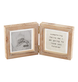 Love You Forever Glass Hinged Frame