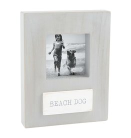 Beach Dog Wood Frame