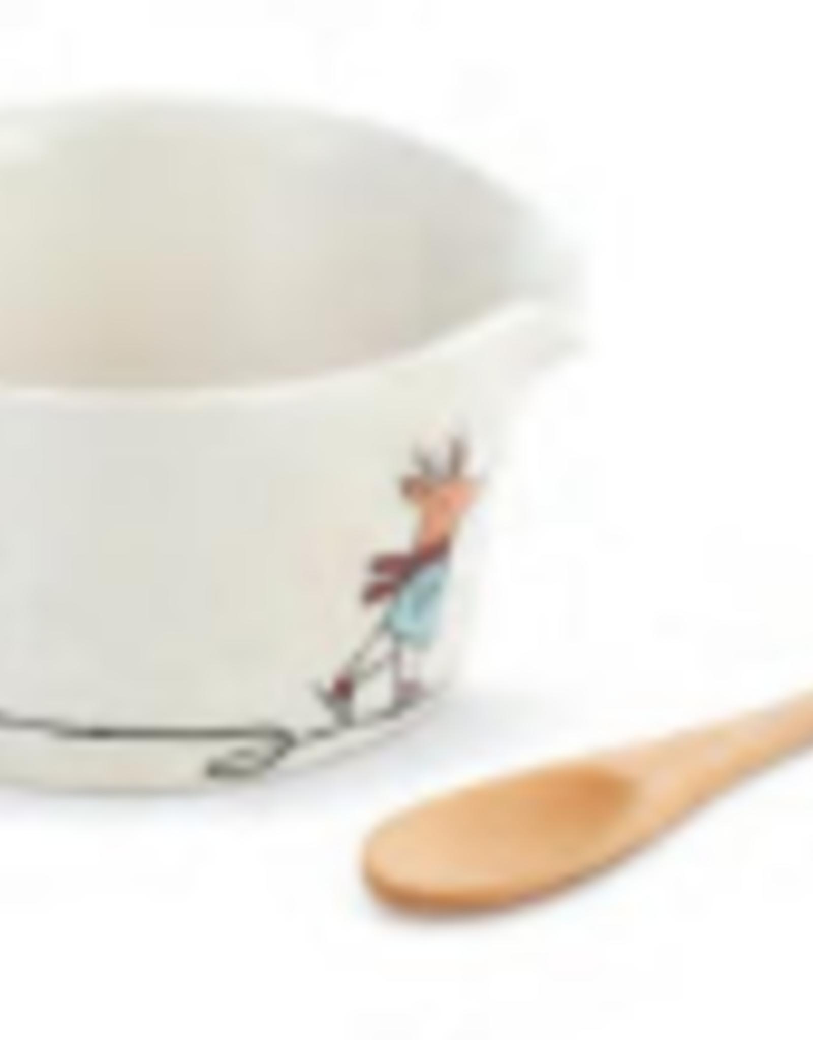 Skating Santa Appetizer Bowl/Spoon