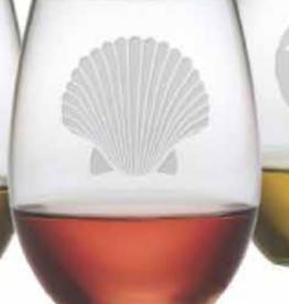 Susquehanna Glass Fan Shell Stemless Glass