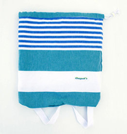 Birchwood Trading Co. Turkish Beach Backpack Towel, Green Blue