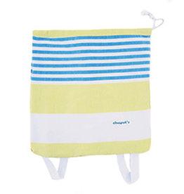 Birchwood Trading Co. Turkish Beach Backpack Towel, Yellow Blue