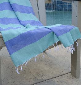 Birchwood Trading Co. Turkish Beach Towel, Blue & Green
