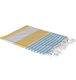 Birchwood Trading Co. Turkish Beach Towel, Yellow Blue