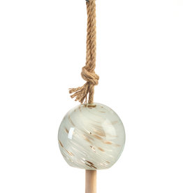 GiftCraft Glass White Gold Wind Chime