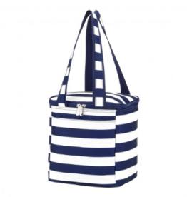Viv & Lou Cooler Bag, Navy Stripes