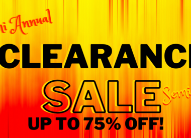 CLEARANCE! 50% OFF