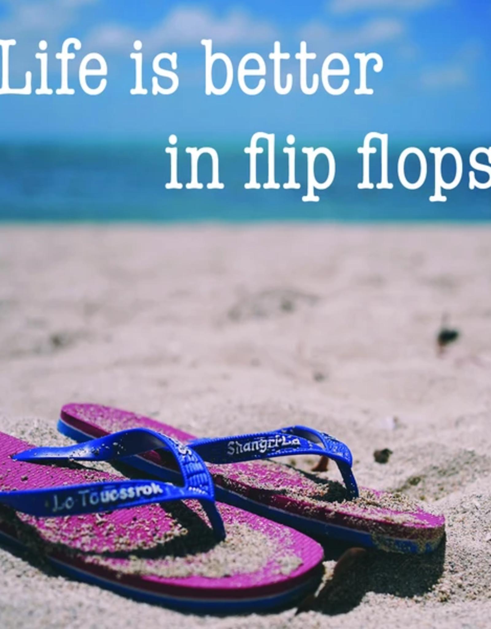 Drinks On Me Coaster, Life Is Better In Flip Flops