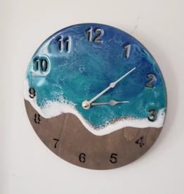 Sea Lion Studio Ocean Resin Clock