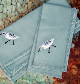 Rightside Design Cloth Napkins, Sand Pipers, Set of 4