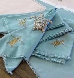 Rightside Design Cloth Napkins, Turtles, Set of 4
