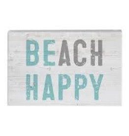 Sincere Surroundings Block Sign, Beach Happy