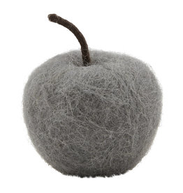 Felted Apple, Gray