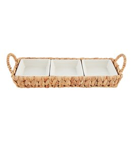 Sectional Server in Water Hyacinth Basket