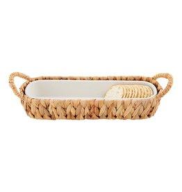 Cracker Dish in Water Hyacinth Basket