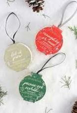 Spongelle Holiday Ornament Buffer, Sugar Plum