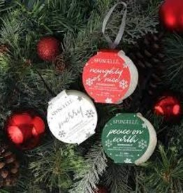 Spongelle Holiday Ornament Buffer, Peppermint