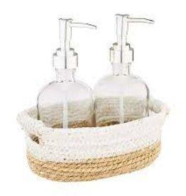 Two Tone Basket Pump Soap Set