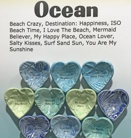 Lorraine Oerth Co. Uplifting Giving Bowl, Ocean