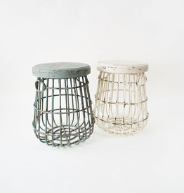 One Hundred 80 Degrees Metal & Wood Stool