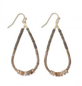 Periwinkle Earrings, Multibead Teardrop