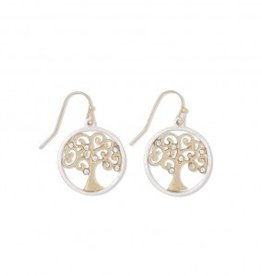 Periwinkle Earrings, Silver/Gold Tree Of Life