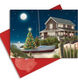 Cape Shore Boxed Christmas Cards - Moonlit Beach