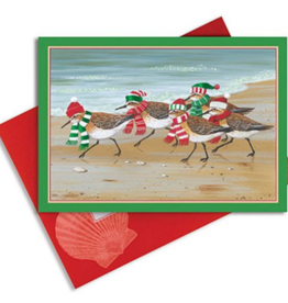 Cape Shore Boxed Christmas Cards - Sandpipers