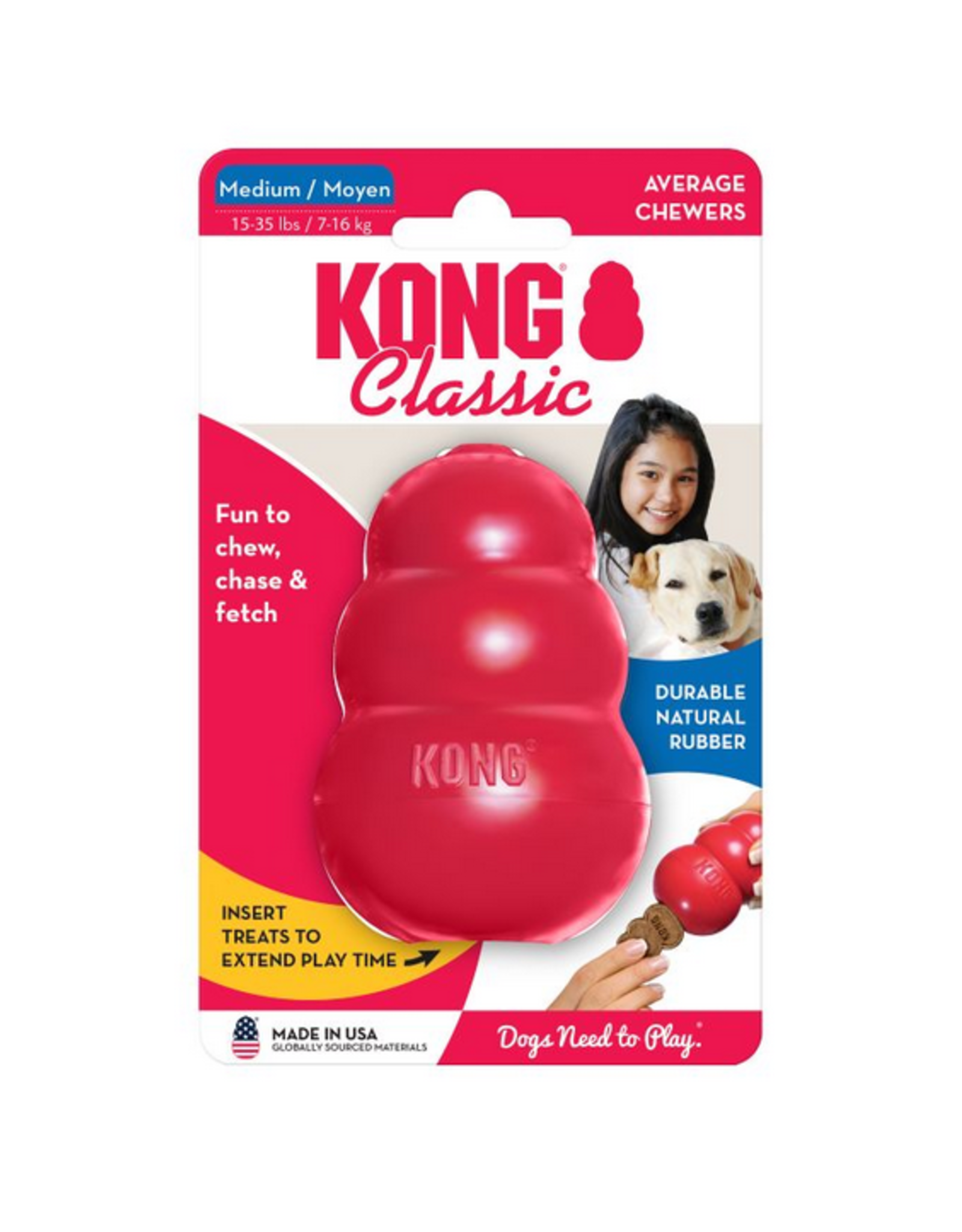 Kong KONG® Classic Dog Toy - Treat Dispensing