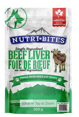 Nutri Bites Freeze Dried Liver 500g