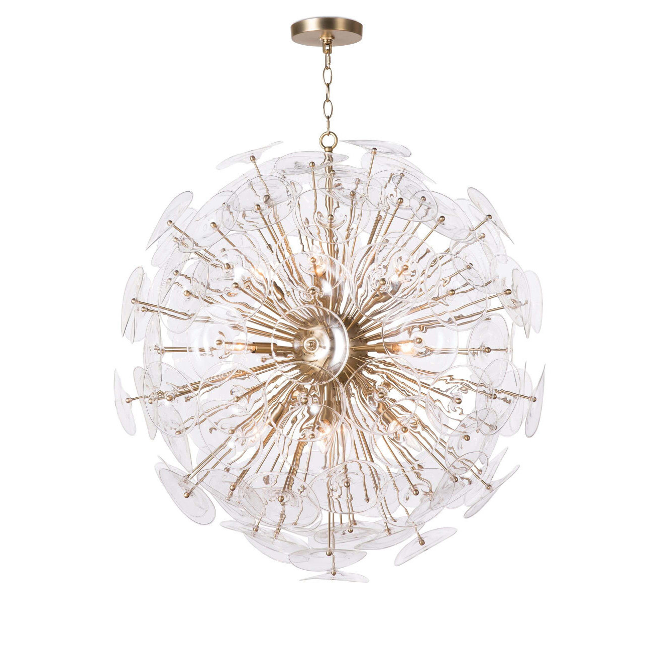 Poppy Glass Chandelier by Regina Andrew
