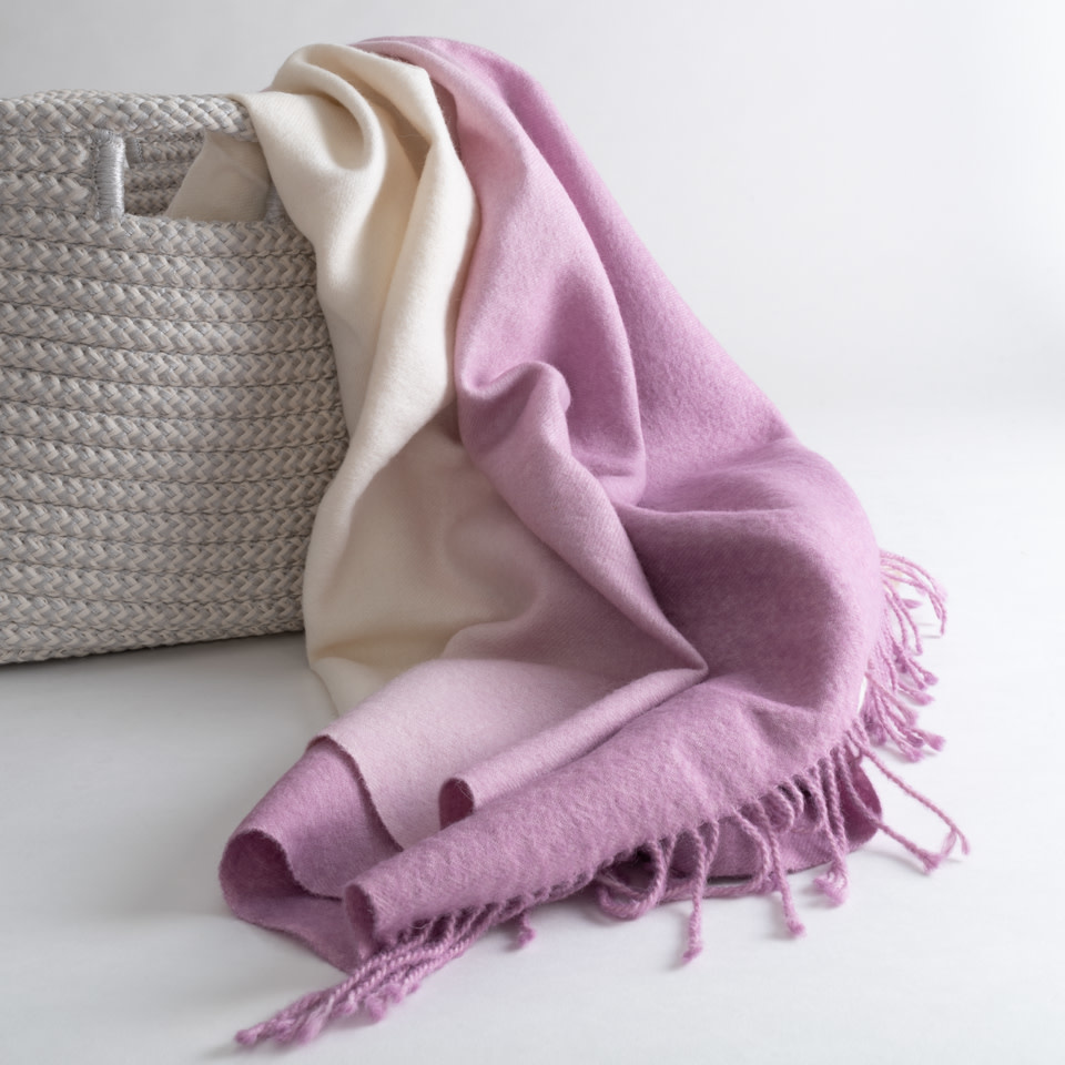 Dip-Dyed Throw {Vibrant Lilac}