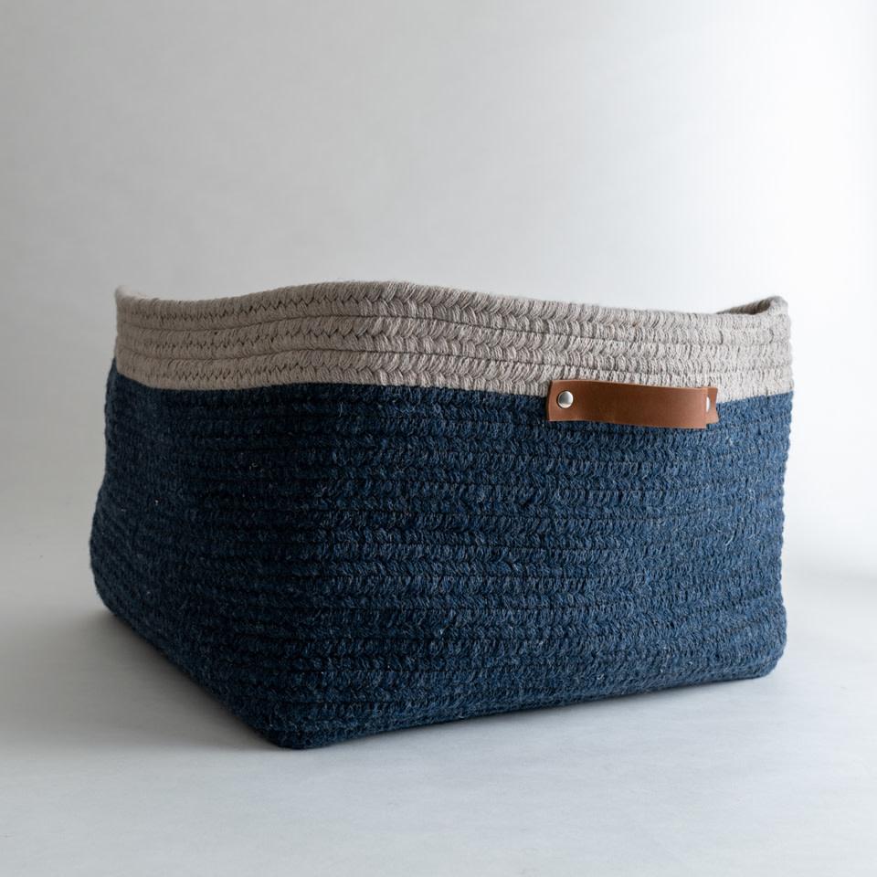 Addison Low Basket {Twilight + Mist}