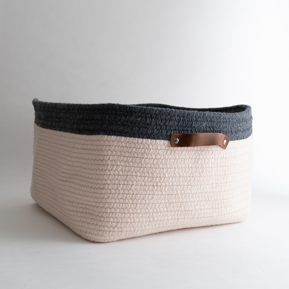 Addison Low Basket {Cream + Ash}
